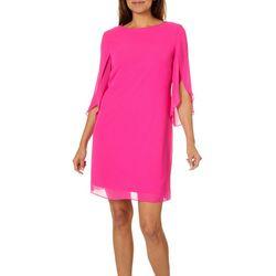 MSK Womens Sheer Split Sleeve Dress