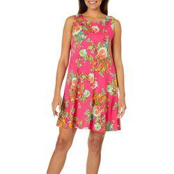MSK Womens Floral Tie Back Sundress