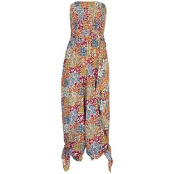 Womens Floral Smocked Tube Jumpsuit
