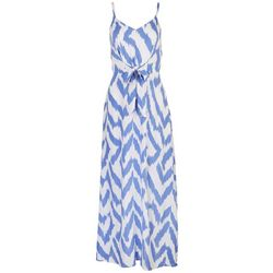 Ivy Road Womens Zig-Zags Zippered Maxi Dress