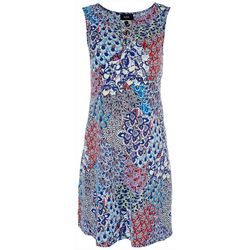 MSK Womens 3-Ring Floral Dress