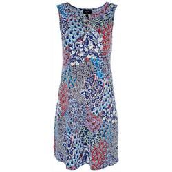 Womens 3-Ring Floral Dress
