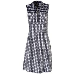 MSK Womens Zipper Point Collar Sleeveless Dress