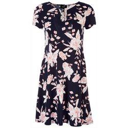 MSK Womens Rings Neckline Dress