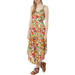 MSK Womens Sleeveless Floral Cropped Jumpsuit