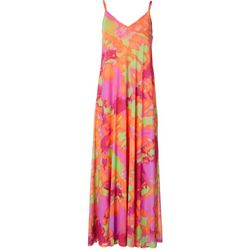 Womens Graphic Print Maxi Dress