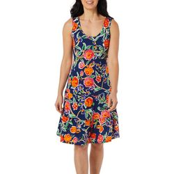 Womens Floral Print Ruffle Tier Sundress