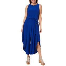 MSK Womens Belted Wide Leg Jumpsuit