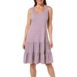 MSK Womens Ruffled Dot Print Sundress