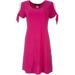 MSK Womens Cut Out Sleeve Dress