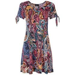 MSK Womens Multi Paisley Dress