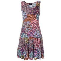 MSK Womens Tiered Multi Feather Dress