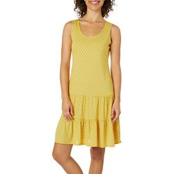 MSK Womens Polka Dot Ruffle Hem Sundress