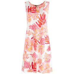 MSK Womens Three Rings Neck Detail Dress