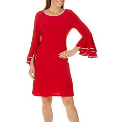 MSK Womens Embellished Bell Sleeve Dress