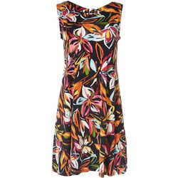 MSK Womens Floral Swing Sleeveless Dress
