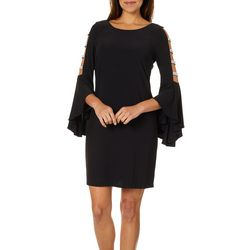 MSK Womens Embellished Caged Sleeve Shift Dress