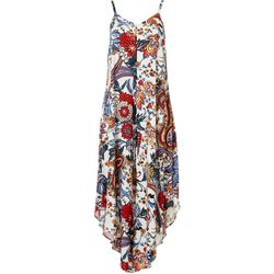 MSK Womens Sleeveless Printed Jumpsuit