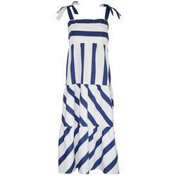 MSK Womens Stripes Midi Dress