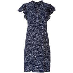 MSK Women's Ruffled Polka Dot Print Dress