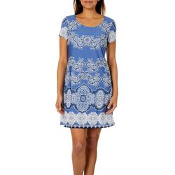 MSK Womens Boho Floral Shift Dress