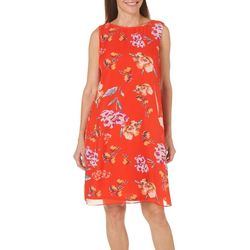 MSK Womens Floral Chain Back Shift Dress