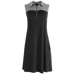MSK Womens Stripes & Dots Dress