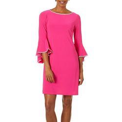 MSK Womens Embellished Bell Sleeve Dress