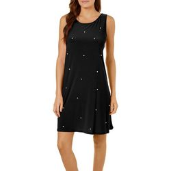 MSK Womens Solid Pearl Sleeveless Dress