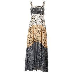 MSK Womens Print Challis Maxi Dress