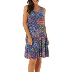MSK Womens Mixed Print Ruffle Tier Sundress