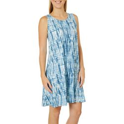 Allison Brittney Womens Tie Dye Sundress