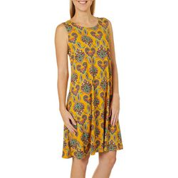 Allison Brittney Womens Paisley Print Sundress