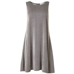 Jamie & Layla Womens Textured Stripe Sleeveless Dress