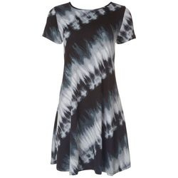 Jamie & Layla Womens Tie-Dye T-Shirt Dress