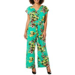 Harlow and Rose Womens Floral Tie Waist Jumpsuit