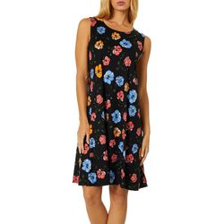 Allison Brittney Womens Sketched Floral Sundress