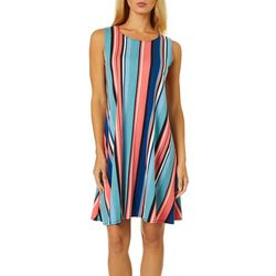 Allison Brittney Womens Vertical Stripe Sundress