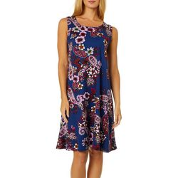 Allison Brittney Womens Floral Paisley Print Sundress