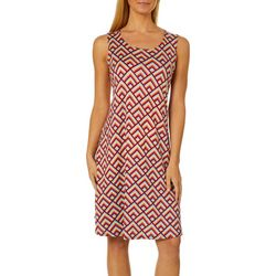 Allison Brittney Womens Rainbow Geometric Sundress