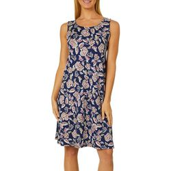 Allison Brittney Womens Coral Floral Sundress
