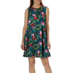 Allison Brittney Womens Tropical Print Sundress
