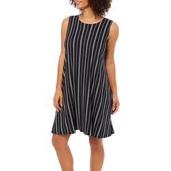 Allison Brittney Womens Pin Striped Sundress