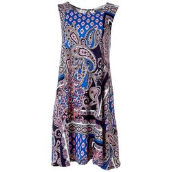 Allison Brittney Womens Paisley Design Yummy Swing Dress