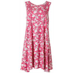 Allison Brittney Womens Paisley & Floral Swing Dress