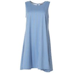 Allison Brittney Womens Striped Yummy Swing Dress