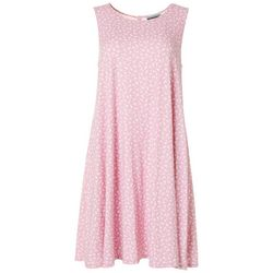 Allison Brittney Womens Sleeveless Daisy Print Swing Dress