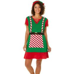 Allison Brittney Womens Jingle Elf Sweater Dress Set