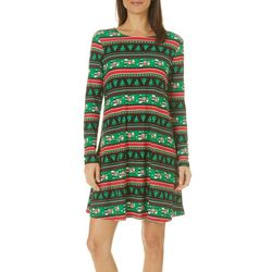 Harlow and Rose Womens Jolly Striped Long Sleeve Dress