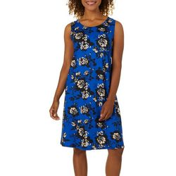 Allison Brittney Womens Bright Floral Sleeveless Sundress